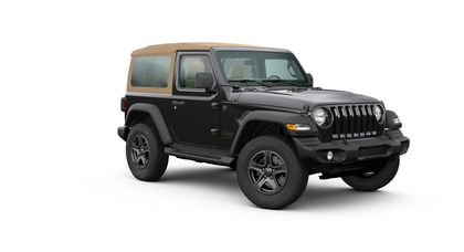Jeep Wrangler 2020 Black and Tan (двухдверная кабина)